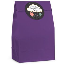 Twinkle Twinkle How We Wonder Gender Reveal Personalized Favor Bag (12 Pack)