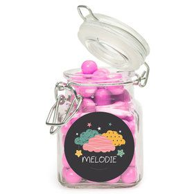 Twinkle Twinkle How We Wonder Gender Reveal Personalized Glass Apothecary Jars (12 Count)