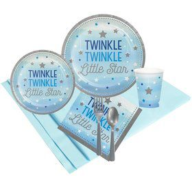Twinkle Twinkle Little Star Blue 24 Guest Party Pack