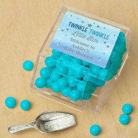 Twinkle Twinkle Little Star Blue Personalized Candy Bin with Candy Scoop (10 Count)