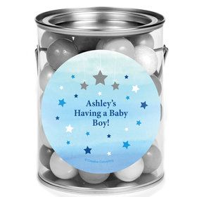 Twinkle Twinkle Little Star Blue Personalized Mini Paint Cans (12 Count)