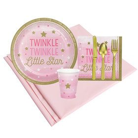 Twinkle Twinkle Little Star Pink 8 Guest Party Pack