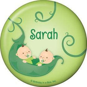 Twin's 1st Birthday Personalized Button (each)