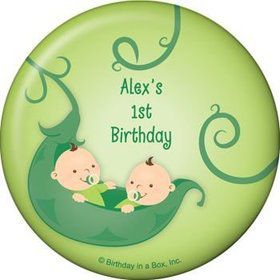 Twin's 1st Birthday Personalized Magnet (each)