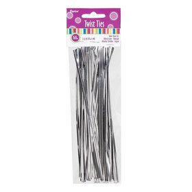 Twist Tie Silver 7.25in (50 pc)