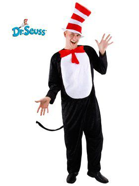Two-Piece Cat In the Hat Adult Costume