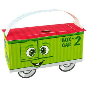 Two-Two Train 2nd Birthday Empty Favor Boxes