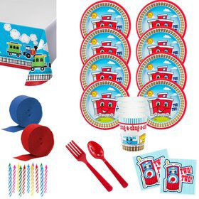 Two-Two Train 2nd Birthday Standard Tableware Kit (Serves 8)