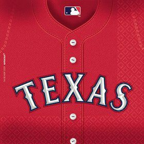 Tx Rangers Luncheon Napkins (36 Pack)