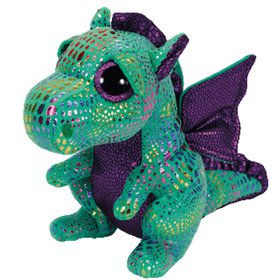 Ty Beanie Boo Cinder Green Dragon Plush (Medium)