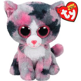 Ty Beanie Boo Lindi Cat Plush (Medium)