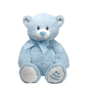 "Ty Pluffies Sweet Baby 8"" Blue Bear"