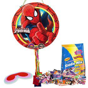 Ultimate Spiderman Pull String Economy Pinata Kit