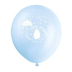 "Umbrellaphants Blue 12"" Latex Balloons (8 Count)"