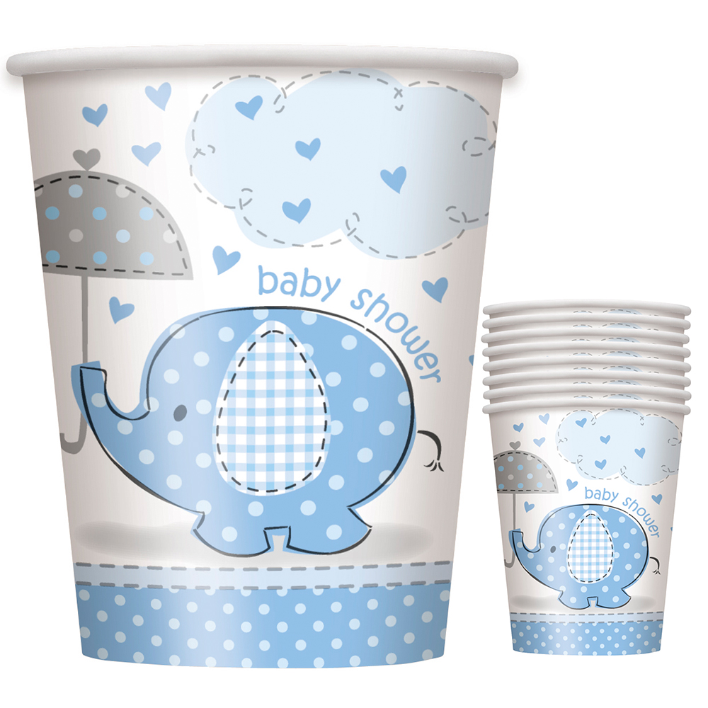 Umbrellaphants Blue 9 oz Cups (8 Count) - Party Supplies BB41696