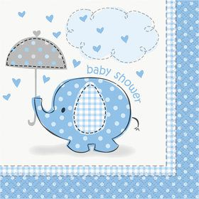 Umbrellaphants Blue Beverage Napkins (16 Count)