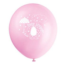 "Umbrellaphants Pink 12"" Latex Balloons (8 Count)"