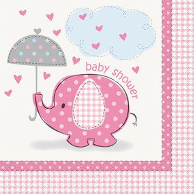 Umbrellaphants Pink Lunch Napkins (16 Count)