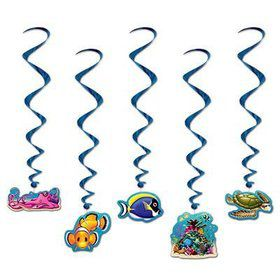 Under the Sea Hanging Swirl Decorations (5 Pack)