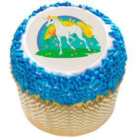 "Unicorn 2"" Edible Cupcake Topper (12 Images)"