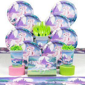 Unicorn Fantasy Birthday Party Deluxe Tableware Kit Serves 8