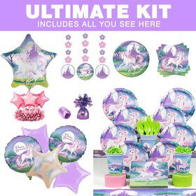 Unicorn Fantasy Ultimate Tableware Kit (Serves 8)