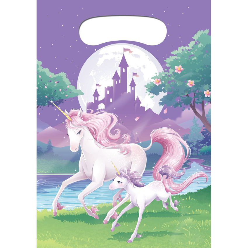 Unicorn Fantasy Favor Loot Bags (8 Pack) - Party Supplies BB085603