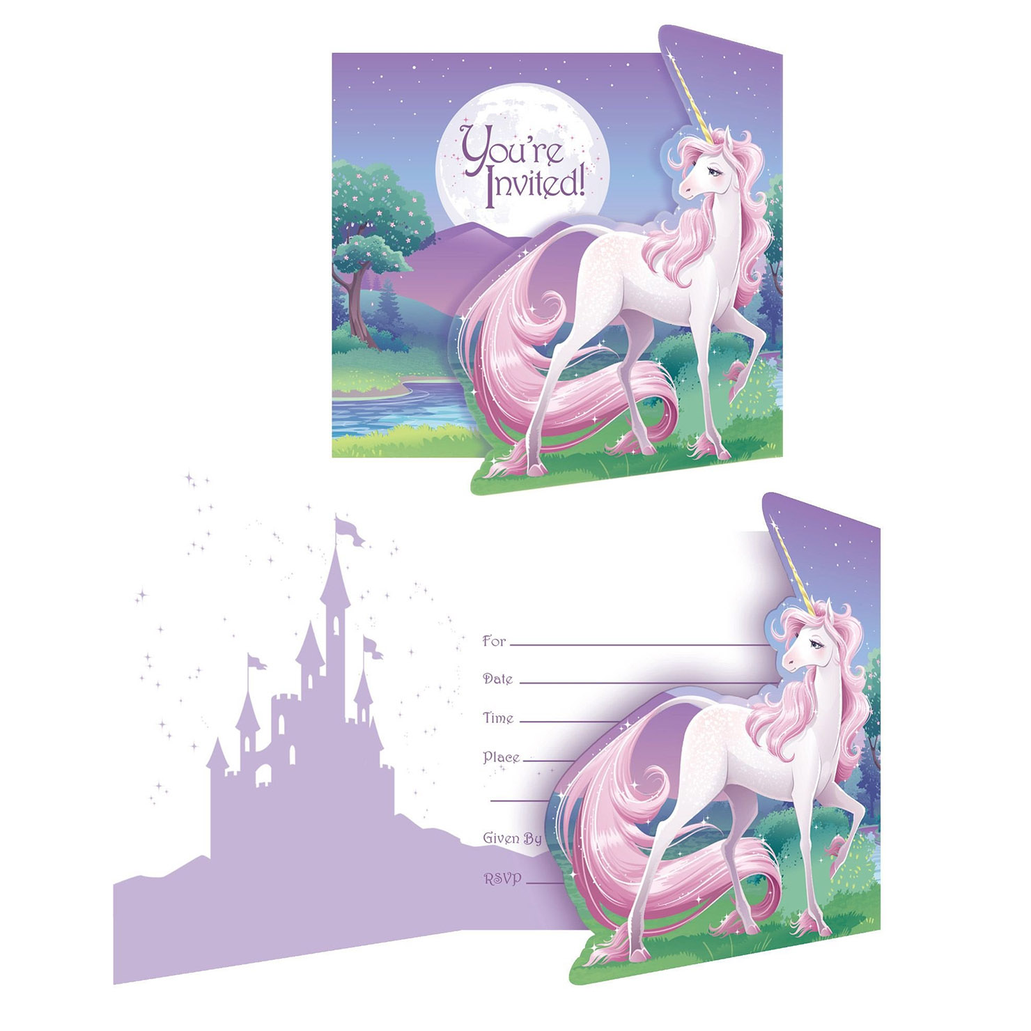 Unicorn Fantasy Invitations (8 Pack) BB895603
