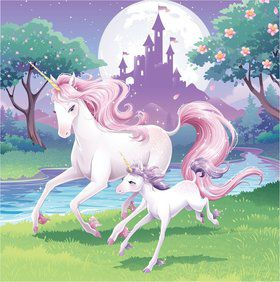Unicorn Fantasy Luncheon Napkins (16 Pack)