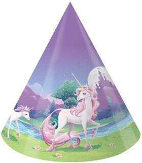 Unicorn Fantasy Party Hats (8 Pack)