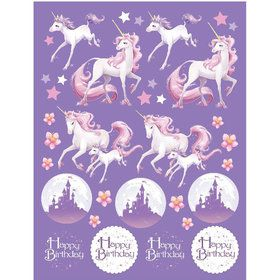 Unicorn Fantasy Sticker Favors (4 Sheets)