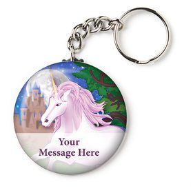 "Unicorn Fun Personalized 2.25"" Key Chain (Each)"