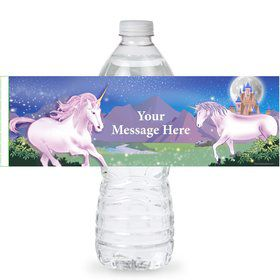 Unicorn Fun Personalized Bottle Label (Sheet of 4)