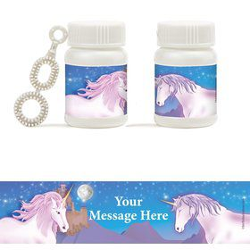 Unicorn Fun Personalized Bubbles (18 Pack)