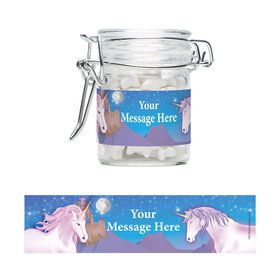 Unicorn Fun Personalized Glass Apothecary Jars (10 Count)