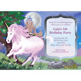 Unicorn Fun Personalized Invitation (Each)