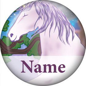 Unicorn Fun Personalized Mini Button (Each)