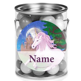 Unicorn Fun Personalized Mini Paint Cans (12 Count)