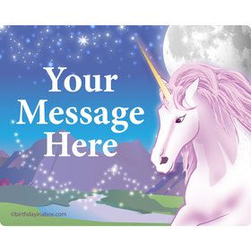 Unicorn Fun Personalized Rectangular Stickers (Sheet of 15)