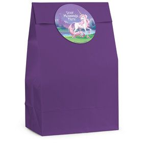 Unicorn Personalized Favor Bag (12 Pack)
