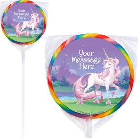 Unicorn Personalized Lollipops (12 Pack)