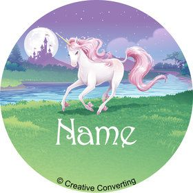 Unicorn Personalized Mini Stickers (Sheet of 24)