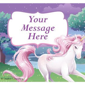 Unicorn Personalized Rectangular Stickers (Sheet of 15)