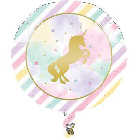"Unicorn Sparkle 18"" Metallic Balloon (1)"