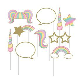 Unicorn Sparkle Assorted Photo Booth Props (10)