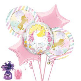 Unicorn Sparkle Balloon Bouquet Kit