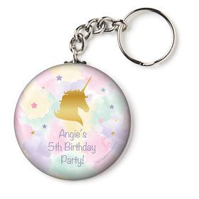 "Unicorn Sparkle Personalized 2.25"" Key Chain (Each)"