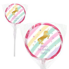"Unicorn Sparkle Personalized 2"" Lollipops (20 Pack)"