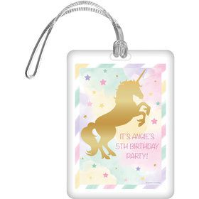 Unicorn Sparkle Personalized Bag Tag (Each)