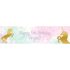 Unicorn Sparkle Personalized Banner (Each)